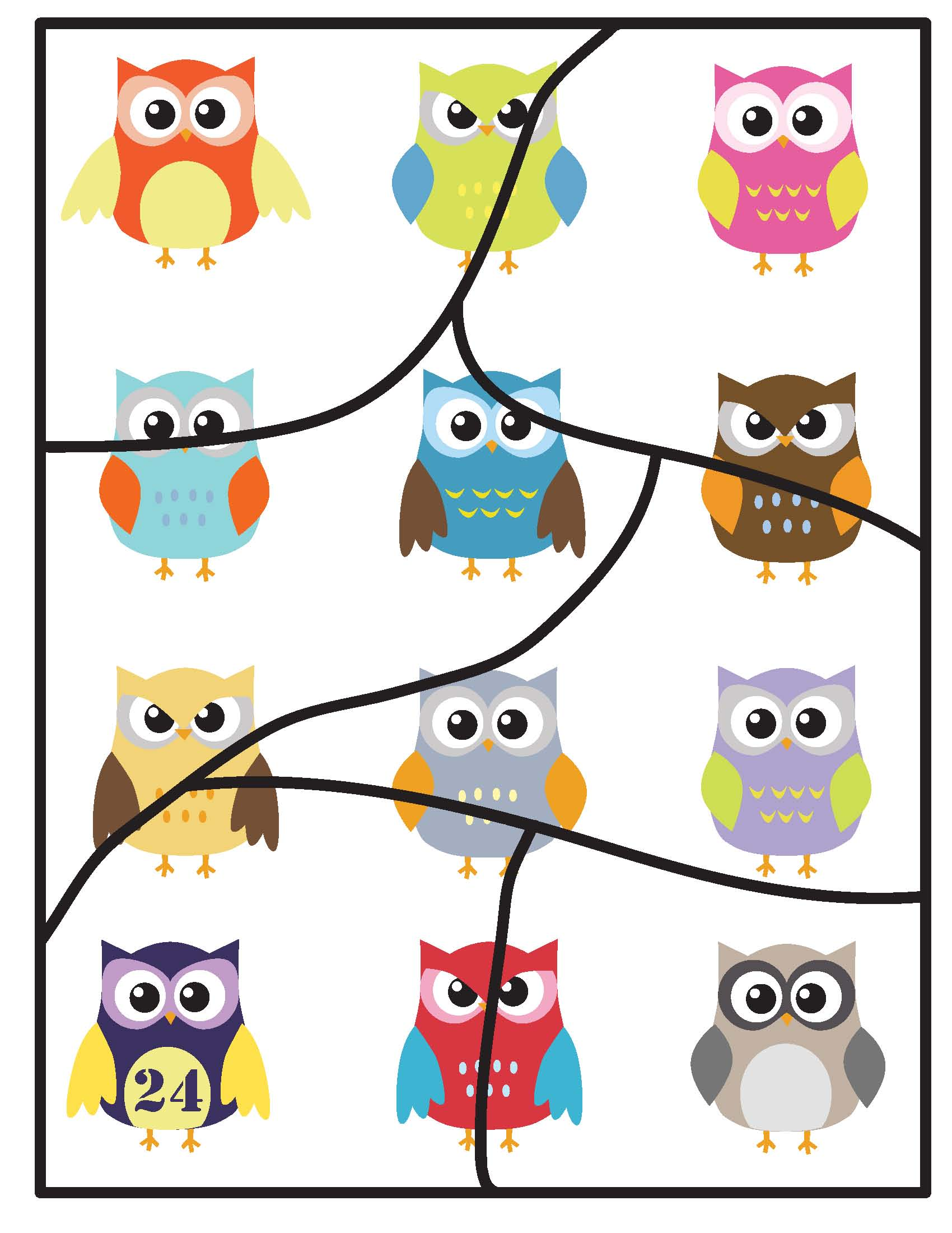 Toddler Six Piece Puzzle Owls