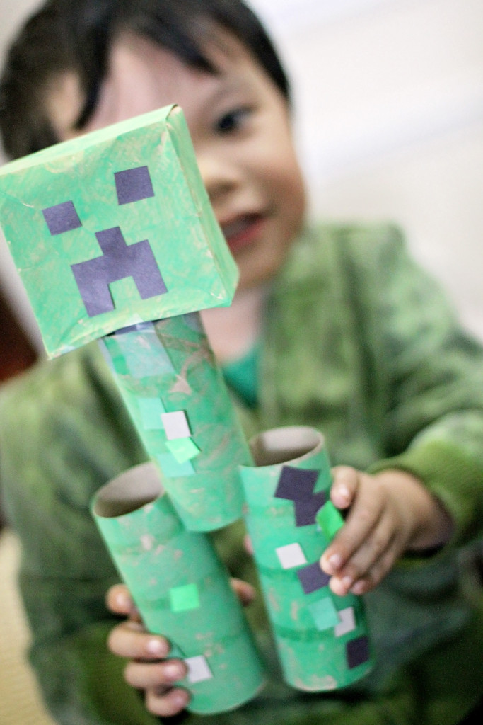 toilet-paper-roll-craft-minecraft-creeper-complete
